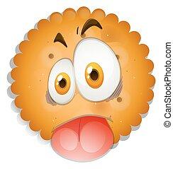 Cookie con cara de tonto