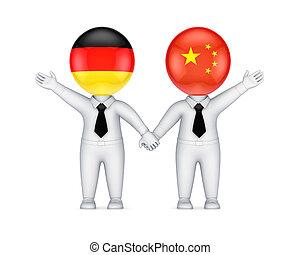 cooperación, german-chinese, concept.