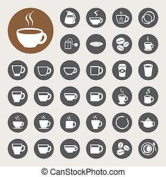 Copa de café y taza de té.