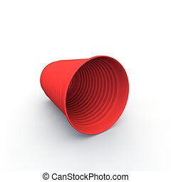 Copa de plástico roja