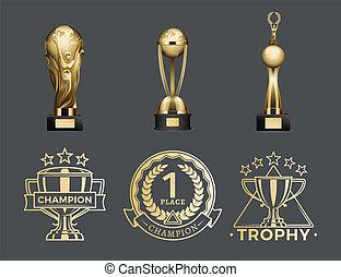 Copas de oro y medallas para el primer lugar