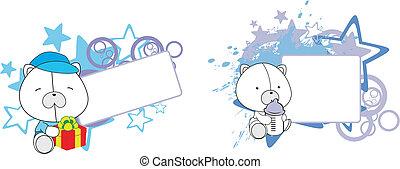 Copio de dibujos animados de oso polar