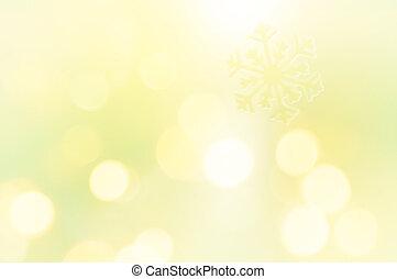 Copo de nieve sobre fondo amarillo brillante