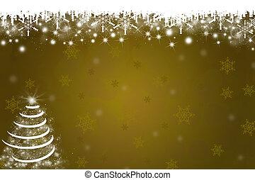 Copos de Nieve de fondo de árbol de Navidad