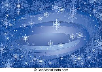 Copos de Nieve de fondo (vector)