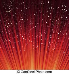 copos de nieve, light., eps, estrellas, trayectoria, 8, rojo