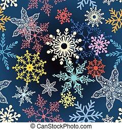 Copos de nieve multicolor