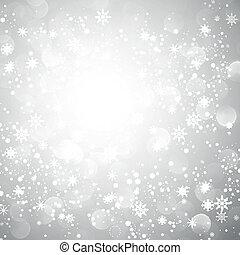 Copos de nieve plateados