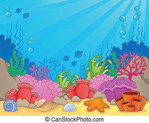 coral, tema, imagen, arrecife, 4