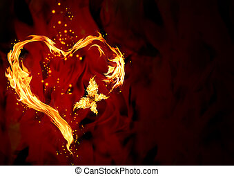 corazón, abrasador