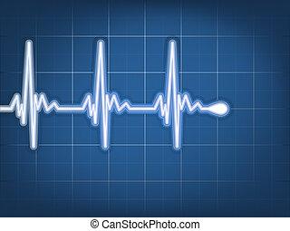 Corazón abstracto late cardiograma. EPS 10
