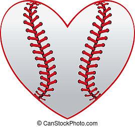 corazón, beisball