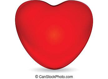 Corazón brillante vector de logo