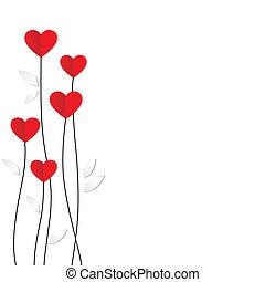 corazón, card., paper., valentines, feriado, día