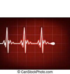 corazón, cardiograma, eps, profundo, él, 8, sombra, red.