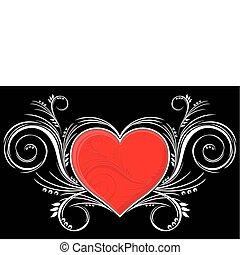 Corazón con adornos