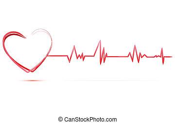 Corazón con cardiología