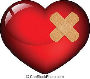 Corazón con yeso