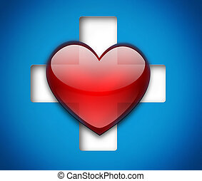 corazón, cruz