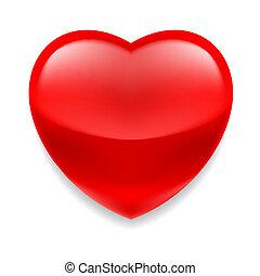 Corazón de cristal rojo