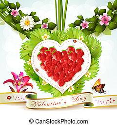 Corazón de fresa