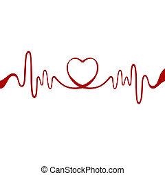 Corazón de lazo rojo