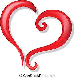 Corazón de logo de amor