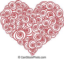 Corazón de rosa