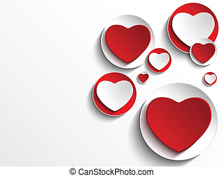 Corazón de San Valentín con botón blanco