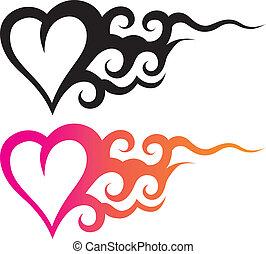 Corazón de tatuaje