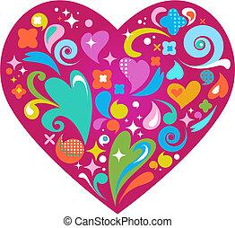 Corazón de vector decorativo para el día de San Valentín