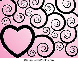 Corazón de vector rosa