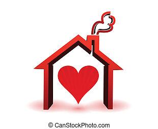 Corazón dentro de casa