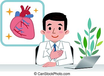 corazón, doctor, explicar