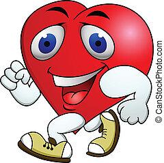 corazón, ejercicio, cartón