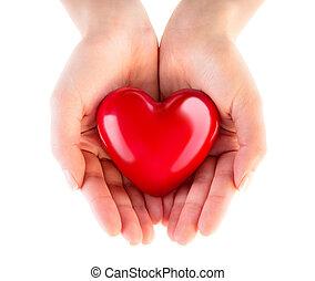 Corazón en manos - donación de amor