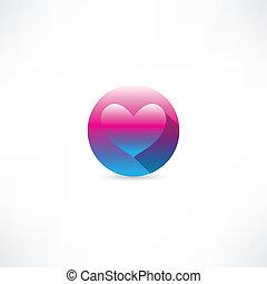 Corazón en un icono