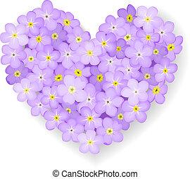 Corazón floral del vector