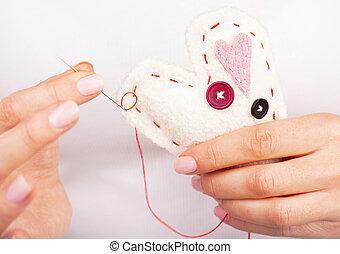 corazón, hechaa mano
