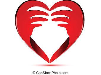 Corazón hecho con manos