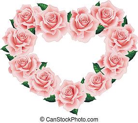 Corazón rosado aislado