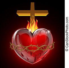 corazón sagrado, ilustración