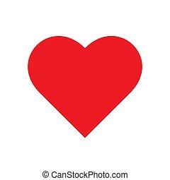 corazón, simple, minimalistic, rojo, vector