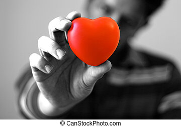 corazón, usted, mi, (bw), elasticidad
