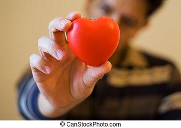 corazón, usted, mi, elasticidad