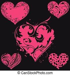 Corazón vectorial rosa