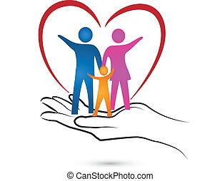 Corazón y logotipo familiar