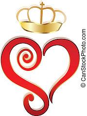 Corazón y logotipo vector