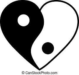 corazón, yang de yin