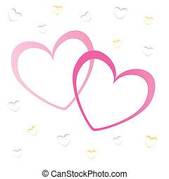 Corazones de San Valentín, papel tapiz